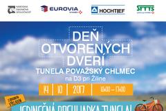 Deň otvorených dverí tunela Považský Chlmec na D3 pri Žiline