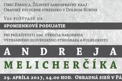 Spomienka na Andreja Melicherčíka