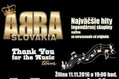 ABBA SLOVAKIA – THANK FOR THE MUSIC tour 2016