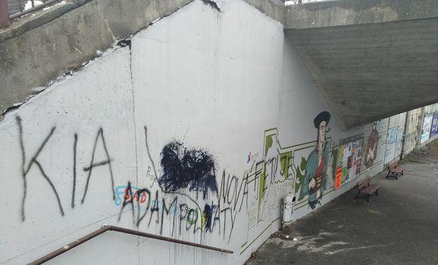Street Art na Bernolákovej terčom vandalov: Zgustli si na nej opakovane v krátkom čase