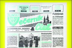 Žilinský večerník si vminulosti vyslúžil titul krajské noviny