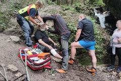 Úraz v Jánošíkových dierach: Turista s tržným zranením hlavy skončil v rukách záchranárov