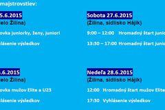 Spoločné Majstrovstvá Slovenskej a Českej republiky v cestnej cyklistike 2015 v Žiline