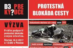 Protestná blokáda v Povine