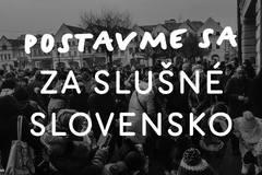 Pochod Postavme sa za slušné Slovensko aj v Žiline