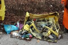 V Budatíne opäť horeli kontajnery na odpad