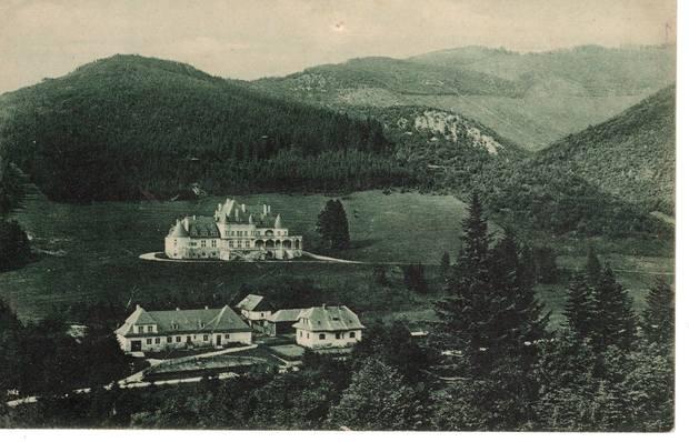 Kaštieľ Kunerad okolo roku 1920.