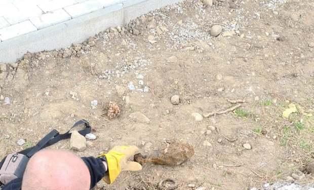 Pri výkopových prácach našli muníciu