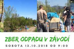 Zber odpadu v Závodí - povodí rieky Rajčianka