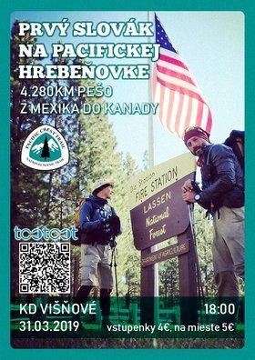 Prvý Slovák na Pacifickej hrebeňovke, 4 280 km pešo cez USA / KD
