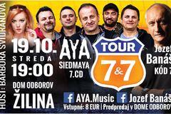 7&7 TOUR 2016 (AYA, Jozef Banáš talkshow, Barbora Švidraňová)
