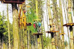 Lanový park v Lesoparku Chrasť hľadá nového nájomcu
