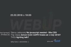 Web Up #14 / web vývojari v Žiline