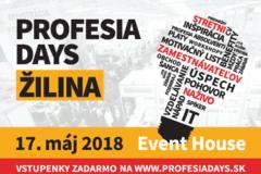 Stretni zamestnávateľov naživo – 17. mája na Profesia days Žilina