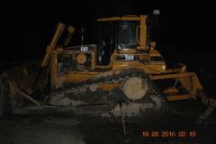Nočné požiare traktorov abuldozéra vKysuckom Novom Meste