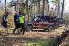 Nepríjemná nehoda cyklistu v Malej Fatre: narazil do spadnutého stromu a zostal v bezvedomí