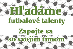 Hľadáme futbalové talenty